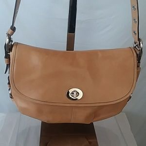 Coach Legacy  Tan Leather Shoulder Bag